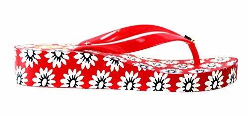 Tory Burch Wedge Flip Flops,Nantucket Red/Navy Sea/White Pri