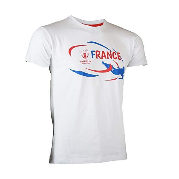super mignon vente chaude réel meilleur site web T-Shirt France - Coupe du Monde DE Rugby 2019 - Collection Officielle Rugby  World Cup - Taille Homme