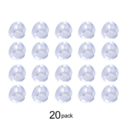 20 Pack Baby Safety Corner Protectors Clear Corner Edge Guards for Home Furniture (The Slammer Halloween)