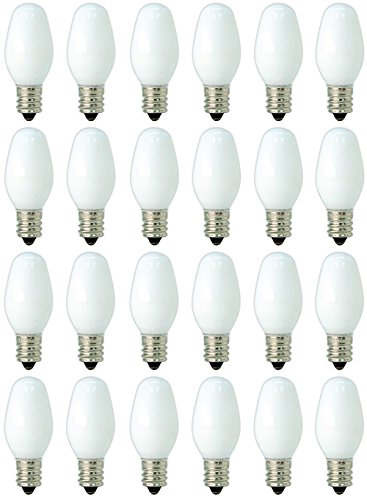 (GE C7 Night Light Bulbs White 24 Pack 4-Watt 20573)