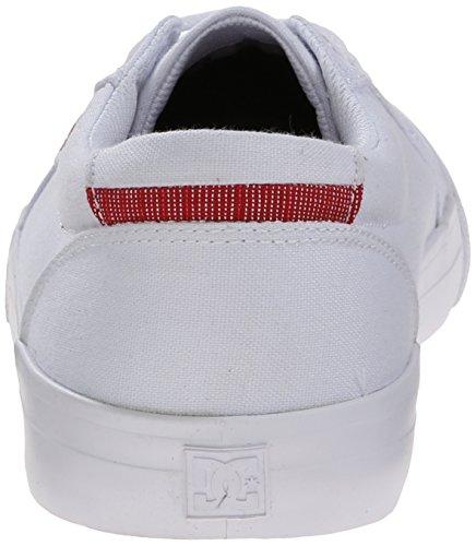 DC Womens Council TX SE Skate Shoe, White, 7.5 B US
