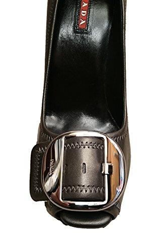 Prada - Zapatos de vestir de Piel para mujer gris Plomo