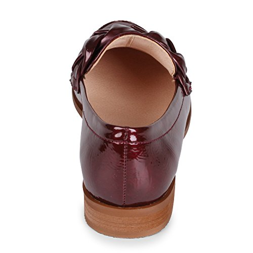 Necesito Zapatos De Holgazán Sin Mujeres Para Mujer Patente De Borgoña