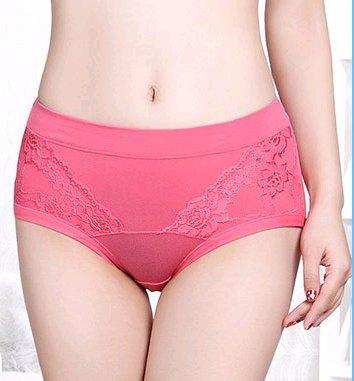 No código de color sólido encaje cintura bragas las damas de algodón triangulares rastro,Ed. negro Sandía Roja de Ed.