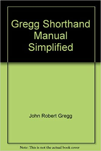 Gregg Shorthand Manual Simplified Books Amazon