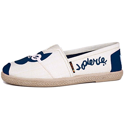 Blue Canvas Flat Loafers Slip Womens Shoes Fashion Ladies On Faloaon IXzTxgg