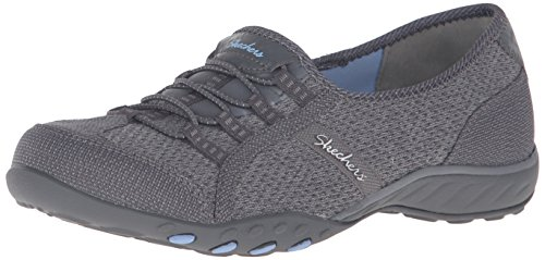 Gray Charcoal Blue Easy Breathe Light Mesh nbsp;Allure Skechers Trim Sneaker Damen wqSY1Hx