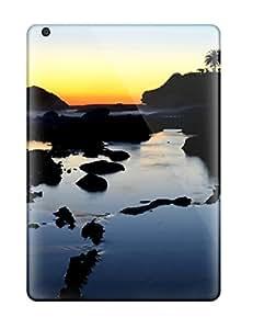 Tpu NadaAlarjane-051301 Shockproof Scratcheproof Laguna Beach Sunset Hard Case Cover For Ipad Air