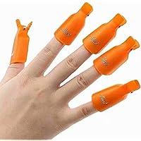 10PC Plastic Acrylic Nail Art Soak Off Cap Clip UV Gel Polish Remover Wrap Tool