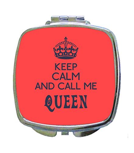 e Queen - Pink and Purple Cute Expression - Crown - Compact Beauty Mirror - Square Shaped (Crown Compact Mirror)
