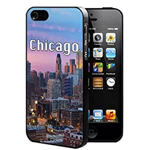 Chicago City Skyline Wallpaper (iPhone 5/5s) Silicone Cell Phone Case