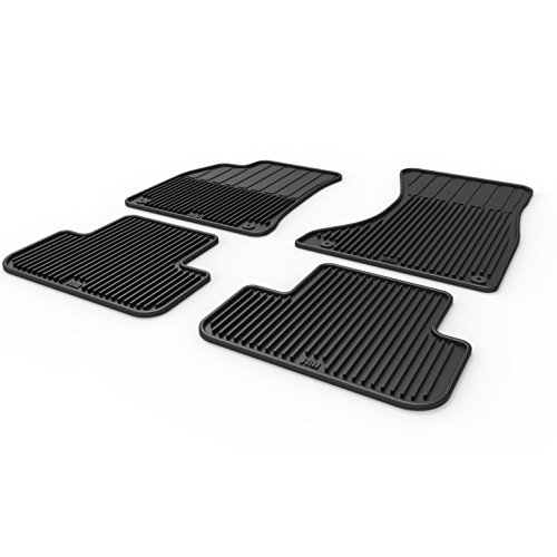 Rev Motoring Heavy Duty All Weather Floor Mats for Audi A4 S4 RS4 B8 B8.5 09-16 (Set of 4) (Floor Mats Audi A4)