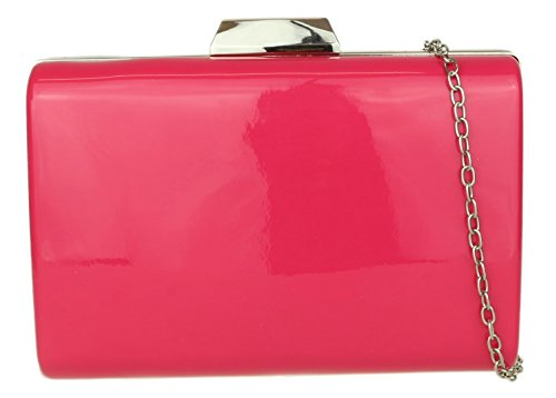 Girly HandBags Case Fuchsia Glossy Clutch Bag Hard SSqr7Cw