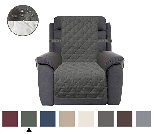 CHHKON Waterproof Nonslip Recliner Cover Stay in Place, Dog Couch Chair Cover Furniture Protector, Ideal Loveseat Slipcovers for Pets and Kids (Green, 23
