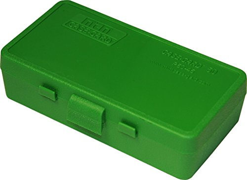 MTM P50-45-10 50Rd Handgun Ammo Box 45 Caliber Flip-Top Grn 50 Cal Ammo Types