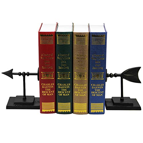 ds, Decorative Bookends for Shelves with Vintage Arrow Style Bookends ()