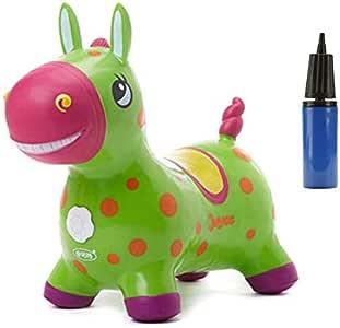 Baobe Horse Ride On, Caballo para Saltar Bomba Inflable Incluida ...