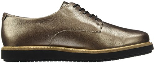 Clarks Glick Darby, Derby para Mujer Beige (Pewter Leather)