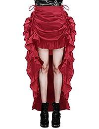 5639d6047f Women's Steampunk Gothic Skirt Victorian Ruffles Pirate Skirt Wrap/Cape  BP000206