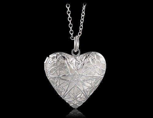 annas-favorite-925-sterling-silver-plated-necklace-with-mesh-heart-pendant-silver