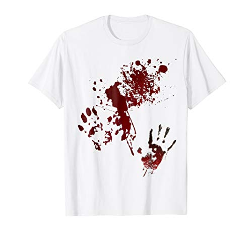 Zombie Attack Blood Spattered Bloody Halloween T-Shirt]()