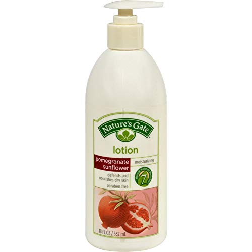 (Pomegranate Sunflower Skin Lotion 18 fl oz by Natures Gate (Pack of 4))