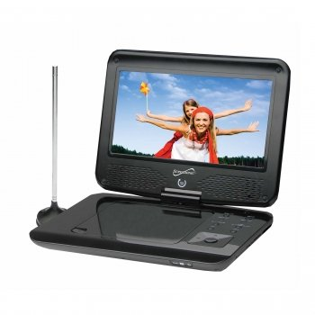 Supersonic Sc-259 9inch Portable DVD Player with Tv Tuner Ntsc Atsc 16:9 Remote Control by Supersonic