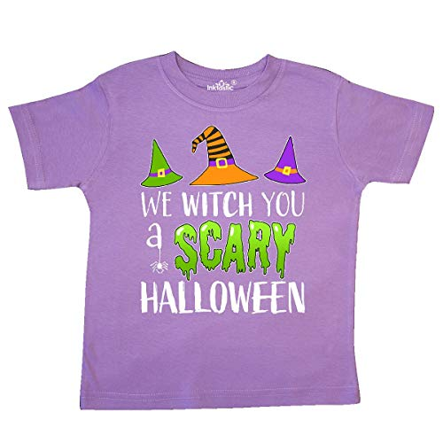 inktastic - We Witch You a Scary Halloween Toddler T-Shirt 5/6 Lavender -