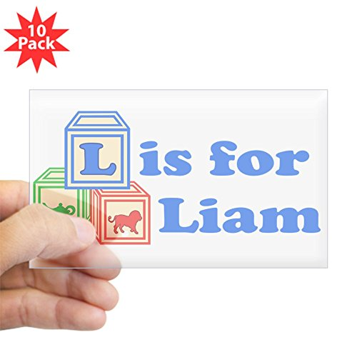 CafePress - Baby Blocks Liam - Rectangle Bumper Sticker (10-pack), Car Decal