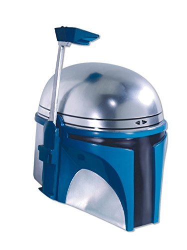 Rubie's Men's Star Wars Deluxe Injection Molded Adult 2-Piece Jango Fett Mask, Multicolor, One Size]()