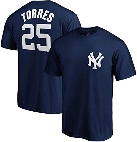 Gleyber Torres New York Yankees #25 Navy Youth Name and Number Jersey T-Shirt