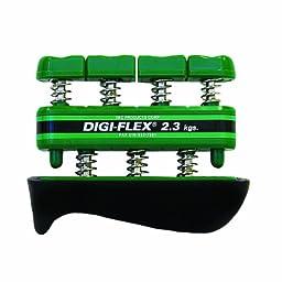 CanDo 10-0742 Digi-Flex Hand Exerciser, Finger 5.0 lb/ Hand 16.0 lb, Green-  Medium Tension