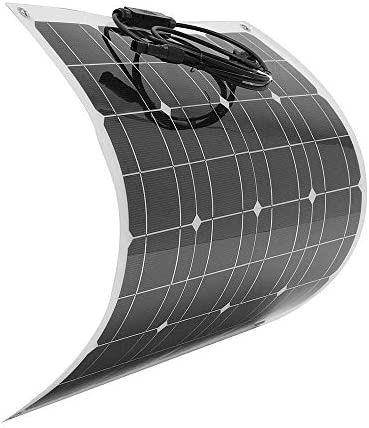 Candicely Sonnenkollektor 60W 12V Solarmodule Biegsame Halb Flexible Solar-Ladegerät mit MC4 for RV Auto-Motorrad-Boot (Color : Black, Size : 620x540x2mm)