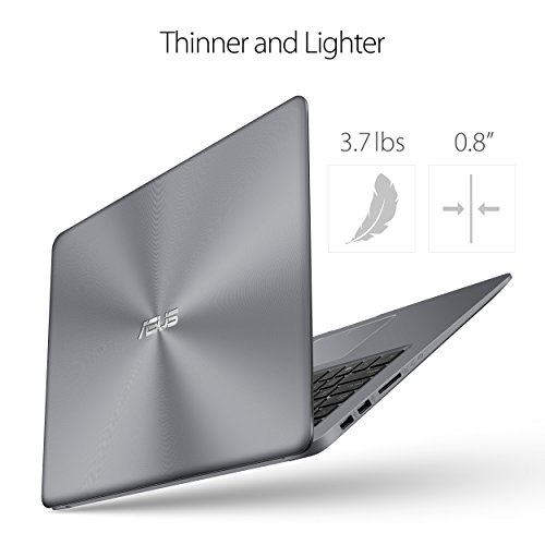 ASUS VivoBook Thin and Lightweight FHD WideView Laptop, 8th Gen Intel Core i5-8250U, 8GB DDR4 RAM, 128GB SSD+1TB HDD, USB Type-C, NanoEdge, Fingerprint Reader, Windows 10 - F510UA-AH55