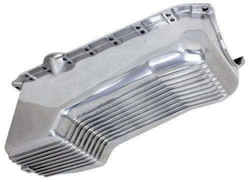 One Piece Rear Main Seal - 1986-02 CHEVY SMALL BLOCK 305-327-350 V8 ALUMINUM STOCK CAPACITY OIL PAN - RETRO FINNED