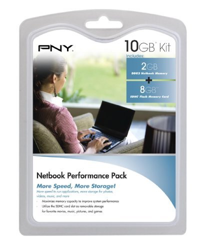 (PNY Netbook Performance Pack - 8 GB Class 4 SDHC Flash Memory Card & 2 GB DDR2 Notebook Memory Module P-NB-SD8DDR2G-FS)
