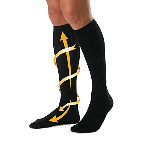 Cabeau Bamboo Compression Socks - Reduce Swelling, Improve Blood Flow Circulation, Prevent Medical Issues - Made with Ultra Soft Moisture Wicking Bamboo Fibers - For Home and Travel - Black - Small