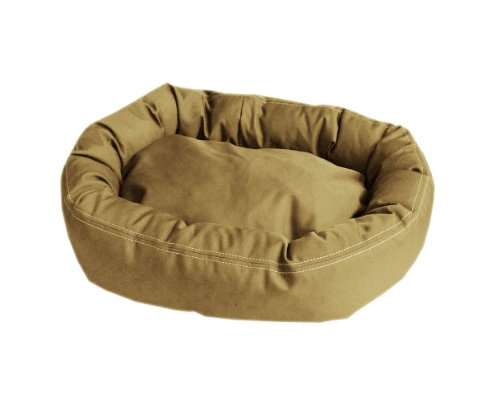 CPC Brutus Tuff Comfy Cup Pet Bed, 27-Inch, Khaki