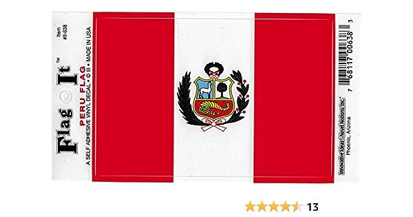 "Peru Butterfly Flag Bumper Sticker Decal /'/'SIZES/"""