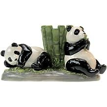 Westland Giftware Mwah Pandas Magnetic Ceramic Salt and Pepper Shaker with Toothpick Holder Set, 2.75-Inch