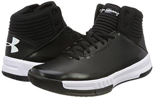 a9a6d64f26e58 UNDER ARMOUR Men s Ua Lockdown 2 Basketball Shoes Black 1 (Black) 8.5 UK   Amazon.in  Shoes   Handbags
