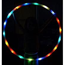 Maikerry Led Hula Hoops Changing LED Lights - Multiple Sizes Available - Light Up Hula Hoop (70cm)