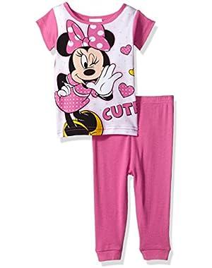 Baby Girls' Minnie 2-Piece Cotton Pajama Set