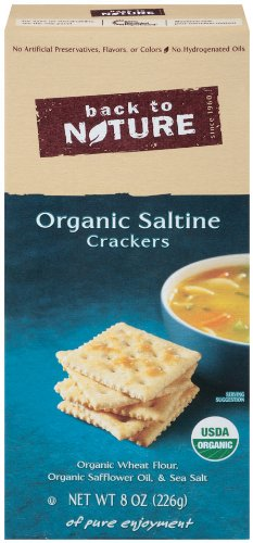 Back To Nature Organic Saltine Crackers, 8-Ounce Boxes (Pack of 6)