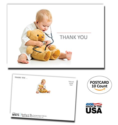 Thank You Postcards 10-Pack - Healthcare Edition for Doctors, Nurses, Health Industry - 4