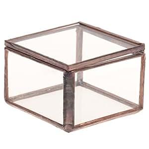 Blesiya - Terrario para plantas miniatura. Caja de regalo para joyas u otros objetos pequeños. Caja decorativa de vidrio partido