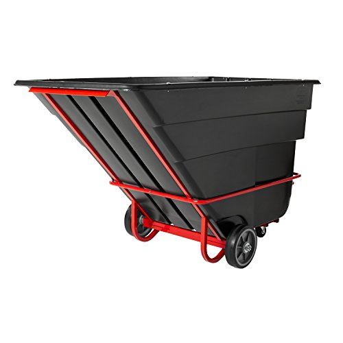 Rubbermaid Commercial Tilt Truck, 1-1/2 Cubic Yard, Black, FG102600BLA - 1 1/2 Cubic Yard