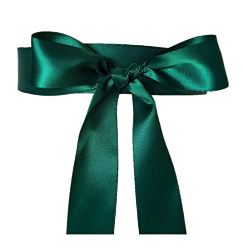 (Wedding Sash Bridal Belts Simple Classic Silk Ribbon Sash for Dress (Green))