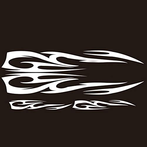 Aland 4Pcs Popular Car Decal Flame Totem Graphics Side Body Hood Sticker Decoration - Body Flames Graphics
