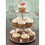 Product review for Mariposa Pearled 3-Tiered Cupcake Server